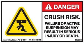 CRUSH RISK-ACTIVE SUSPENSION FAILURE (Horizontal)