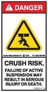 CRUSH RISK-ACTIVE SUSPENSION FAILURE (Vertical)