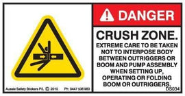 CRUSH ZONE-CONCRETE BOOM PUMP (Horizontal)