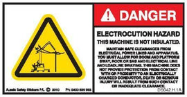 MACHINE NOT INSULATED-ELECTROCUTION HAZARD (Horizontal)
