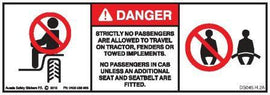 NO PASSENGERS AG TRACTOR (Horizontal)