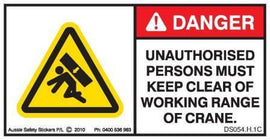 KEEP CLEAR CRANE (Horizontal)