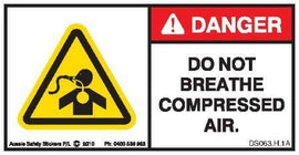 DO NOT BREATH COMPRESSED AIR (Horizontal)