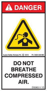 DO NOT BREATH COMPRESSED AIR (Vertical)