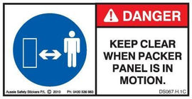 KEEP CLEAR PACKER PANEL (Horizontal)