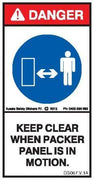 KEEP CLEAR PACKER PANEL (Vertical)
