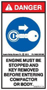 STOP ENGINE REMOVE KEY COMPACTOR (Vertical)