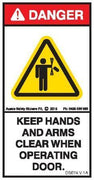 KEEP HANDS ARMS CLEAR AMPUTATION (Vertical)