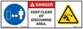 KEEP CLEAR DISCHARGE (Horizontal)