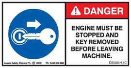 STOP ENGINE REMOVE KEY COMPACTOR (alternate) (Horizontal)