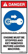 STOP ENGINE REMOVE KEY COMPACTOR (alternate) (Vertical)
