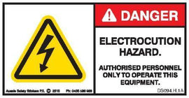 ELECTROCUTION HAZARD (Horizontal)