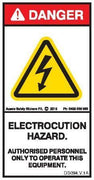 ELECTROCUTION HAZARD (Vertical)