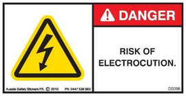 RISK OF ELECTROCUTION (Horizontal)