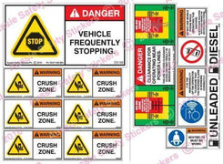 LIGHT VEHICLE SAFETY STICKER KIT