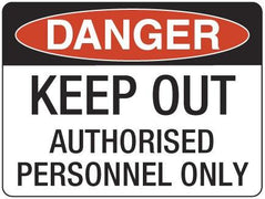 KEEP OUT Authorised Persons Only