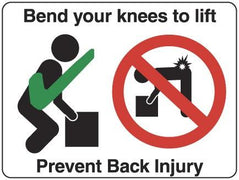 BEND YOUR KNEES TO LIFT