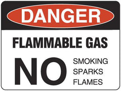 FLAMMABLE GAS NO Smoking Sparks Flame
