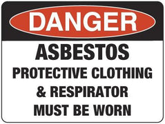 ASBESTOS PROTECTIVE CLOTHING MUST BE WORN