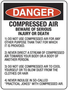 COMPRESSED AIR May Cause Serious Injury or Death