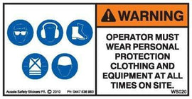PPE MUST BE WORN (Horizontal)