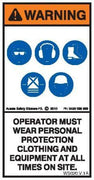 PPE MUST BE WORN (Vertical)