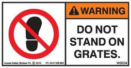 DO NOT STAND ON GRATES-CONCRETE PUMP (Horizontal)