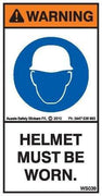 HELMETS MUST BE WORN (Vertical)