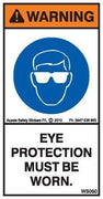 EYE PROTECTION MUST BE WORN (Vertical)