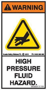 HIgh Pressure Fluid Hazard (Vertical)