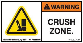 FOOT CRUSH ZONE (Horizontal)