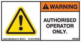 AUTHORISED OPERATOR ONLY (Horizontal)