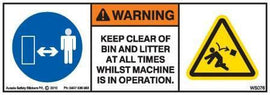 KEEP CLEAR BIN LITTER (Horizontal)