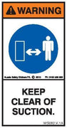 KEEP CLEAR OF SUCTION (Vertical)
