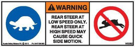 REAR STEER SPEED (Horizontal)