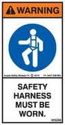 SAFETY HARNESS MUST BE WORN (Vertical)