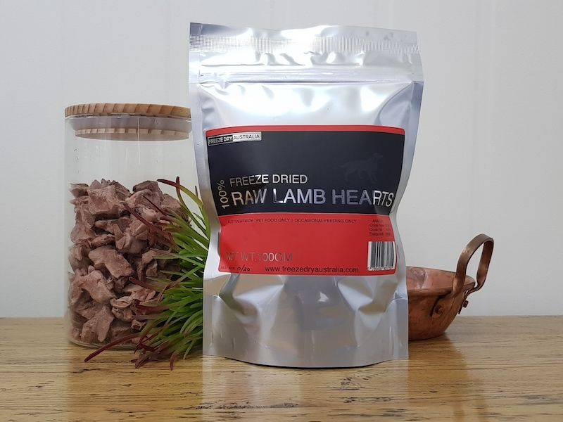 Freeze Dry Australia Diced Lamb Hearts