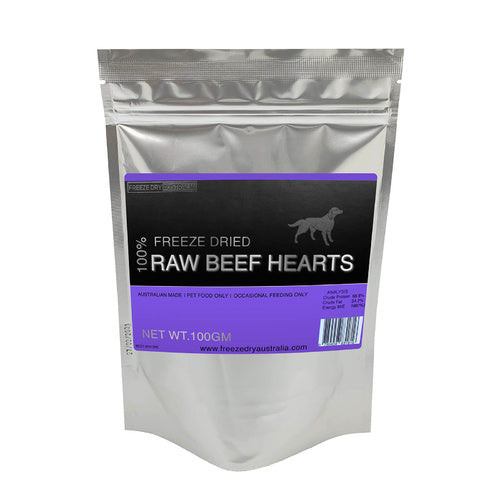 Freeze Dried Raw Beef Hearts