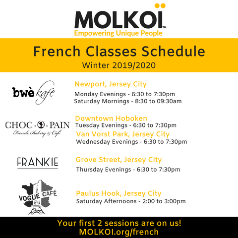 molkoi french classes schedule jersey city hoboken jc