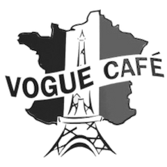 vogue cafe logo jersey city french classes discussion group community