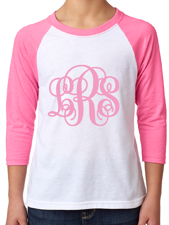 YOUTH Pink Monogram Top