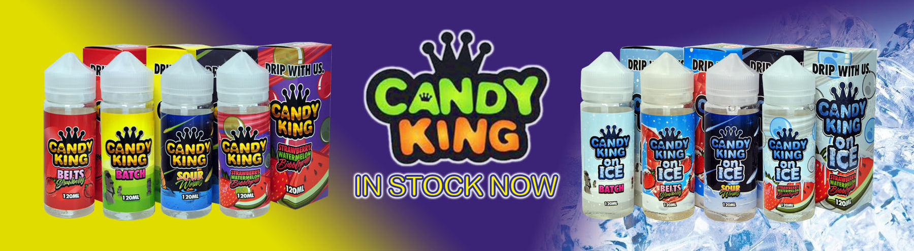 Best E liquid flavours and E juice brands - Candy King