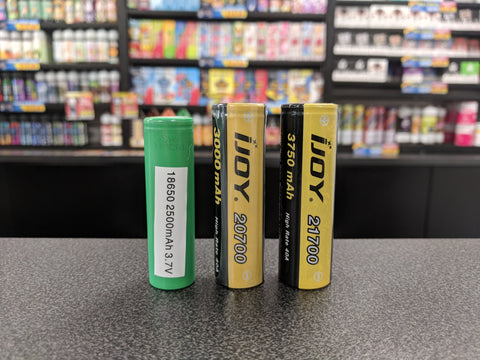 Other sizes of Li-ion batteries are available, including the 20700 and 21700 which are starting to gain popularity in the vaping scene