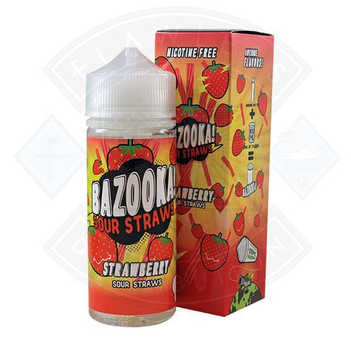 Bazooka Sour Straws Strawberry 0mg 100ml Shortfill
