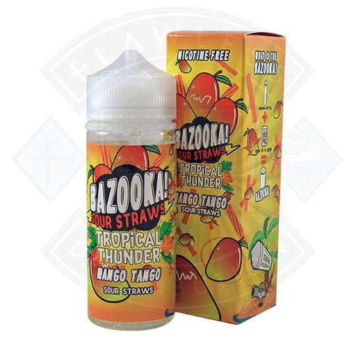 Bazooka Sour Straws - Tropical Thunder Mango Tango 0mg 100ml Shortfill