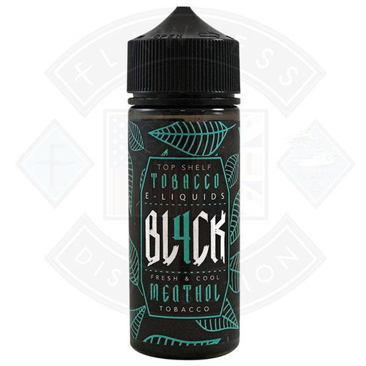 BL4CK Menthol Tobacco 0mg 100ml shortfill E-Liquid