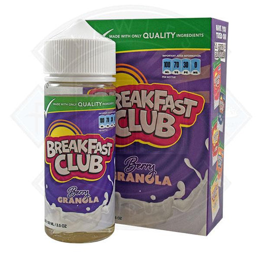 Breakfast Club - Berry Granola 0mg 100ml Shortfill