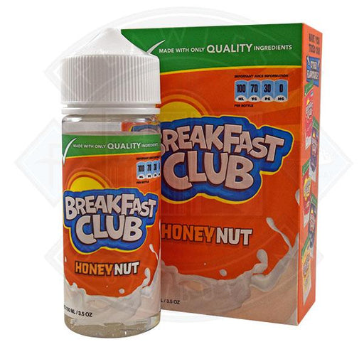 Breakfast Club - Honey Nut 0mg 100ml Shortfill