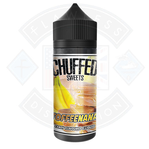 Chuffed Sweets - Toffeenana 0mg 100ml Shortfill E-Liquid