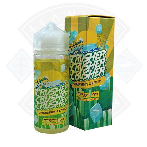 Crusher Strawberry & Kiwi Ice 100ml 0mg shortfill e-liquid